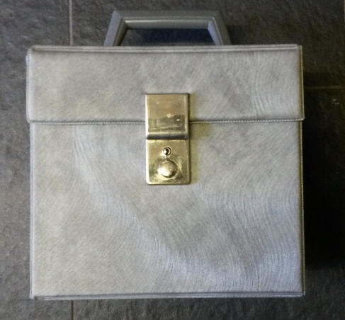 Singles Record Case - Textured Grey